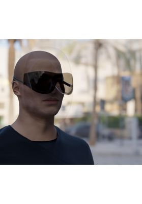 VJ | Luxury face shield subglasses | men black