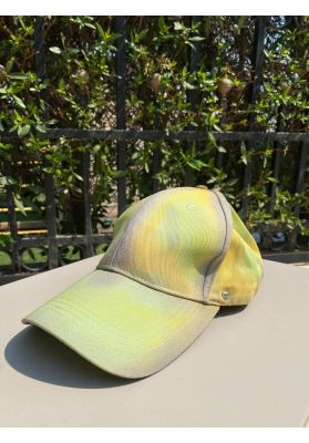Mash shop Tie Dye cap | green | with removable shield