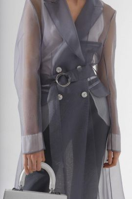 Organza coat | Grey color | one size