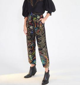 Farm / Black Borogodo Pants-M