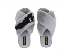 L&L |COZY  panther slippers -M-Gray