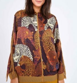 Farm Caramel Jaguar Bomber Jacket