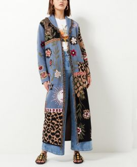 Long blue floral  Tigermood cardigan