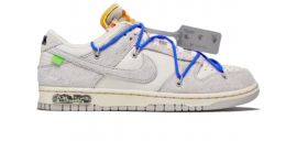 Nike dunk low X off  white - lot 32 blue