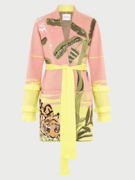 Short cotton yellow Tigermood   cardigan