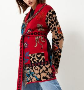 Short cotton red  Tigermood   cardigan