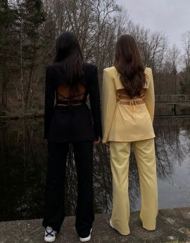 Cutout Summer Yellow suit