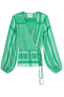 Cecilie long sleeve Top - green  mint