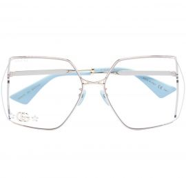 Gucci - oversized Clear G Lenses