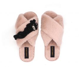 L&L |COZY  panther slippers -M-STONE