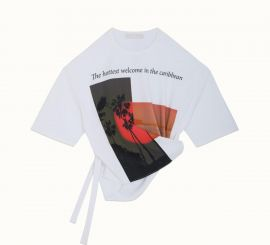 Riri Shirt | PRINTED KNOTTED T-SHIRT