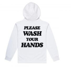 Talentless WASH YOUR HANDS HOODIES | white