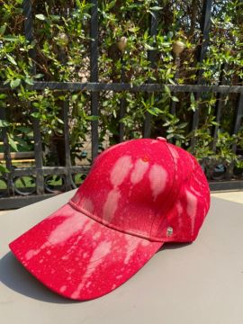 Mash shop Tie Dye cap | red | with removable shield