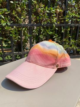 Mash shop Tie Dye cap | pink  | with removable shield