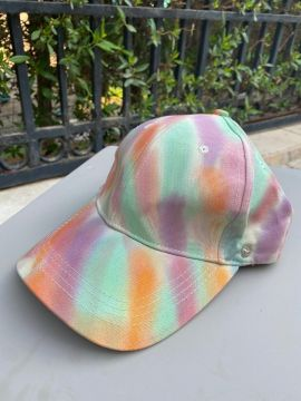 Mash shop Tie Dye cap | multi color | with removable shield